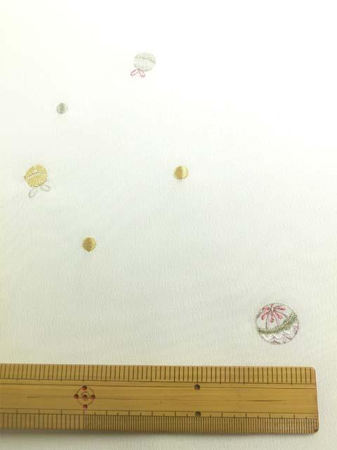 白地にオリジナル日本刺繍 猫柄 拡大写真3