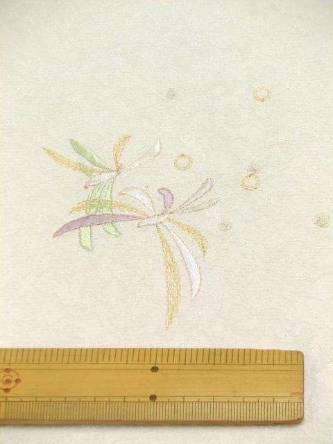 刺繍小紋用 日本刺繍 とんぼ 白 拡大1 opsisyu-tonbo-wh-8-1g