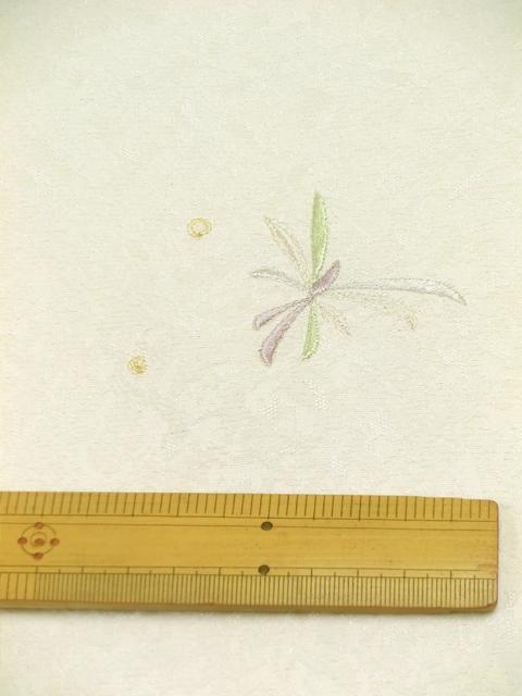 刺繍小紋用 日本刺繍 とんぼ 白 拡大3 opsisyu-tonbo-wh-8-3