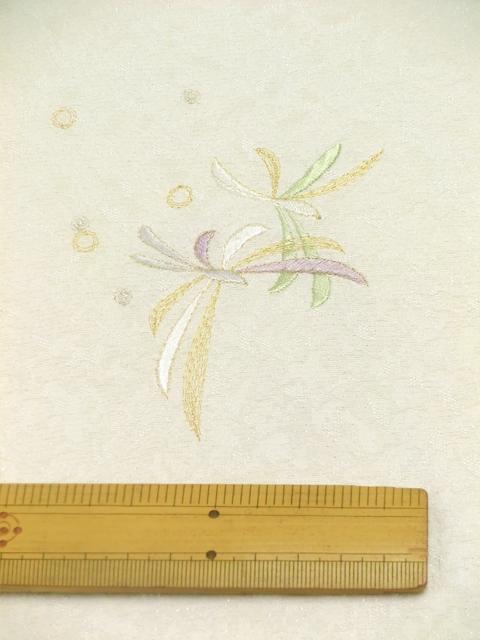 刺繍小紋用 日本刺繍 とんぼ 白 拡大4 opsisyu-tonbo-wh-8-4