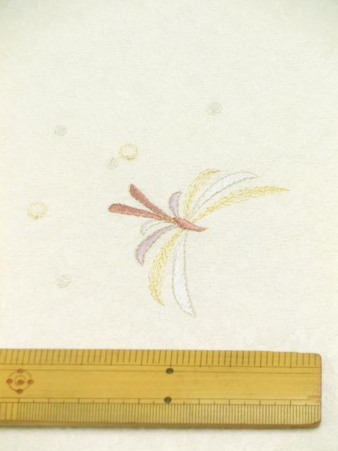 刺繍小紋用 日本刺繍 とんぼ 白 拡大6 opsisyu-tonbo-wh-8-6