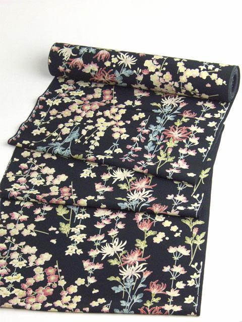 洗える着物 Dreamsilhouette 小梅 黒 Kimono plum blossoms handle that can be washed