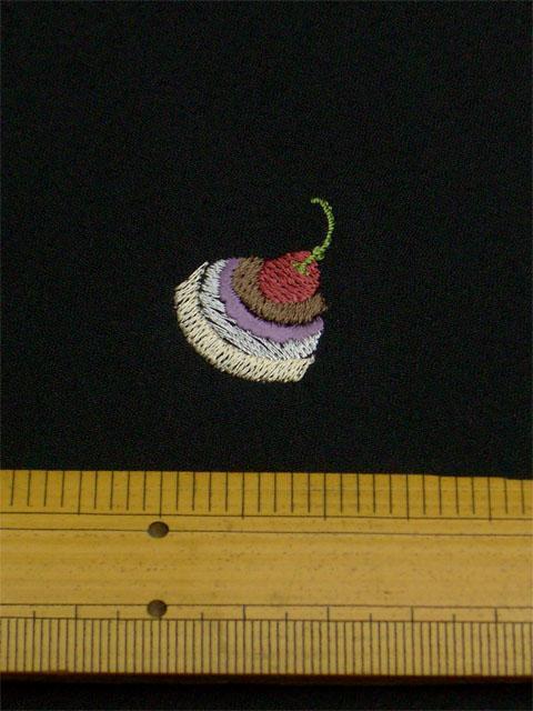 刺繡小紋用 スイーツ柄 拡大写真1shineup-sisyu-kuro-sweets-kakudai1.jpg